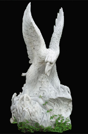 White Marble Animal Eagle Statue Stone Carving For Garden Decorative