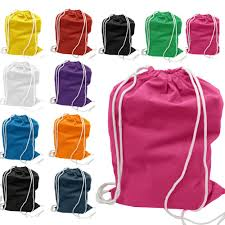 Canvas nylon polyester cotton drawstring bag