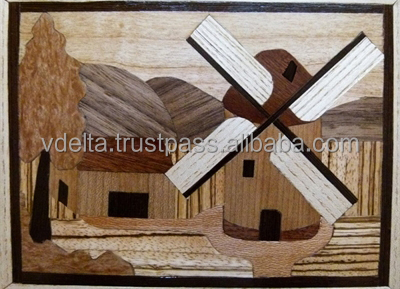 Art wood marquetry for home decoration or presenting - Vdelta