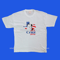 Political Campaign Printed White Election T Shirt