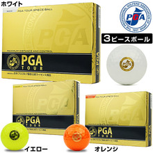 PGA TOUR golf balls high-tech 3-piece 3 piece Japan Professional Golf Association official licensed products