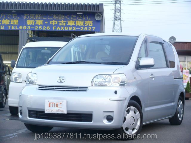 Right hand drive toyota cars in japan used Porte 130i C 2006 with Good Condition