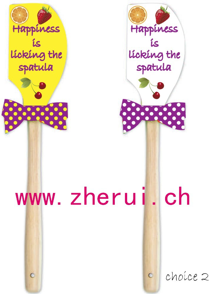 colorful silicone spatula for Baking