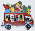 Haitian Tip Tap Colored Colorful Car Bus, Haiti Traditional Metal Art and Crafts