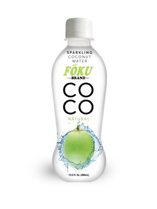 100% Sparkling Coconut Water