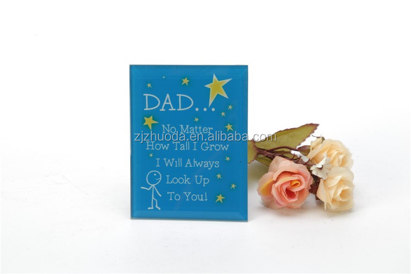 Small Size Home Decorate Glass Photo Frame With Beveled Edge