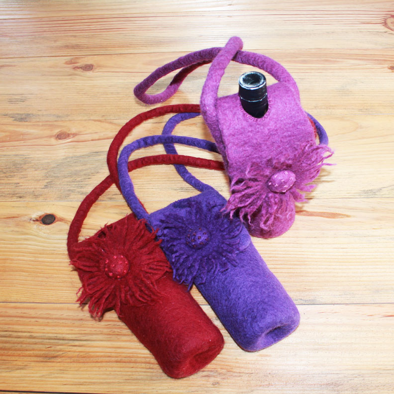 Woolen Felt Wine Bag