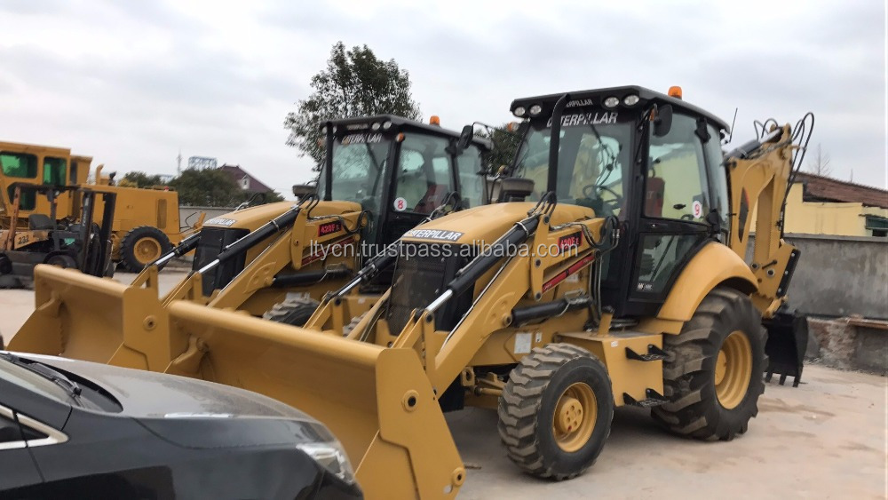 used backhoe loader cat 420f 420F Used backhoe loaders for hot sale in Shanghai
