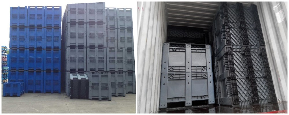 1200*1000mm Plastic pallet box /fruits bins/pallet container
