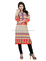 Ladies Punjabi Kurtis | Printed Cotton Kurtis