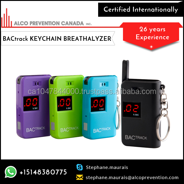 Bright LED Display Screen Breathalyzer Keychain Available at Lowest Market Rate
