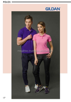 Easy Care Adult Double Pique Sport Polo T-Shirt with Collar