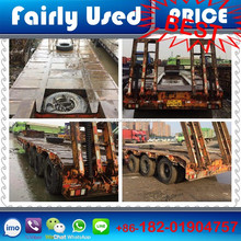 Low price used 3-axle Semi-trailer, 3 axles used truck trailer for sale