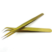 old color 2pcs Straight & Bend Tweezer for Eyelash Extensions