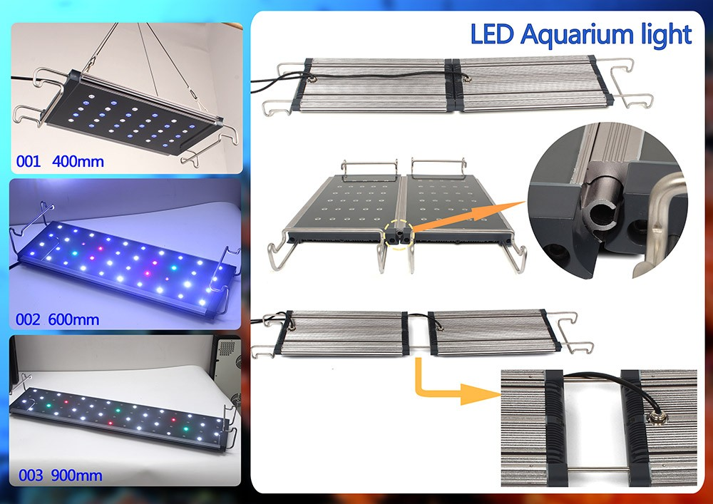 Wholesale Herifi Programmable 400mm/600mm/900m Aquarium Light Full spectrum IP65 waterproof 2ft 3ft 4ft 5ft Led Aquarium Lights