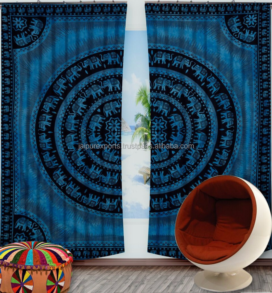 New Design printed curtains For Window Door / Balcony