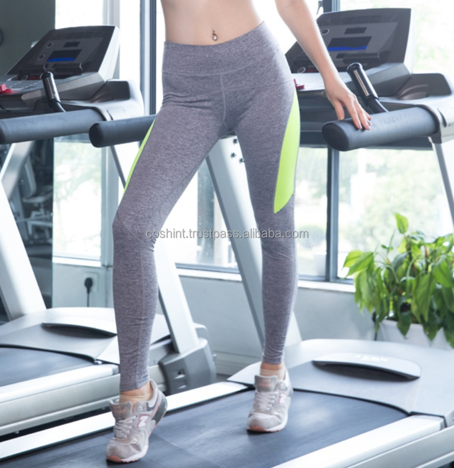 Sports Wear Athletic Gym Workout Fitness Wear Yoga Wear Capri Compression Wear Thermal Tights, Parrot And Grey Legging
