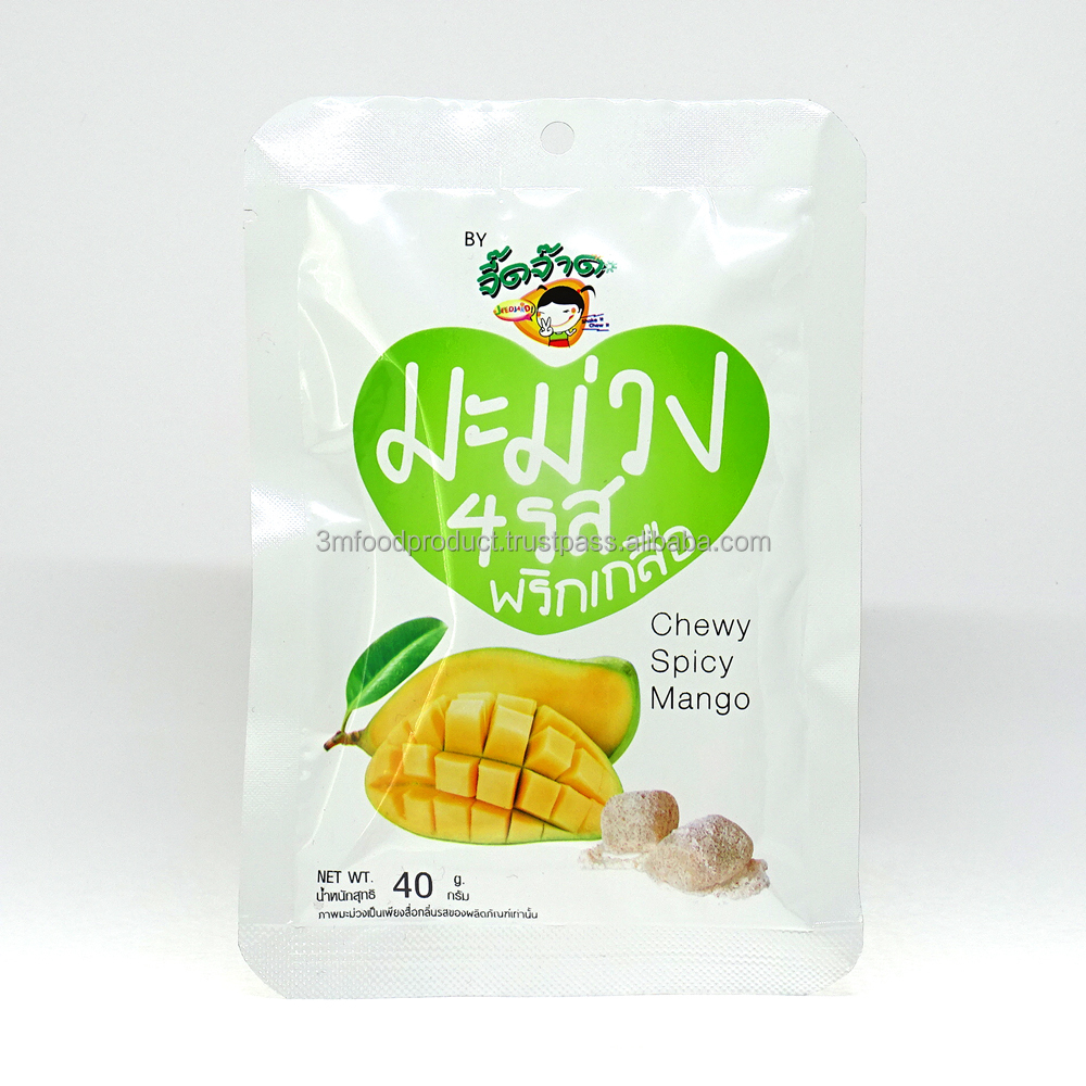 Chewy Mango candies 80% natural mango preserved fruits from Thailand