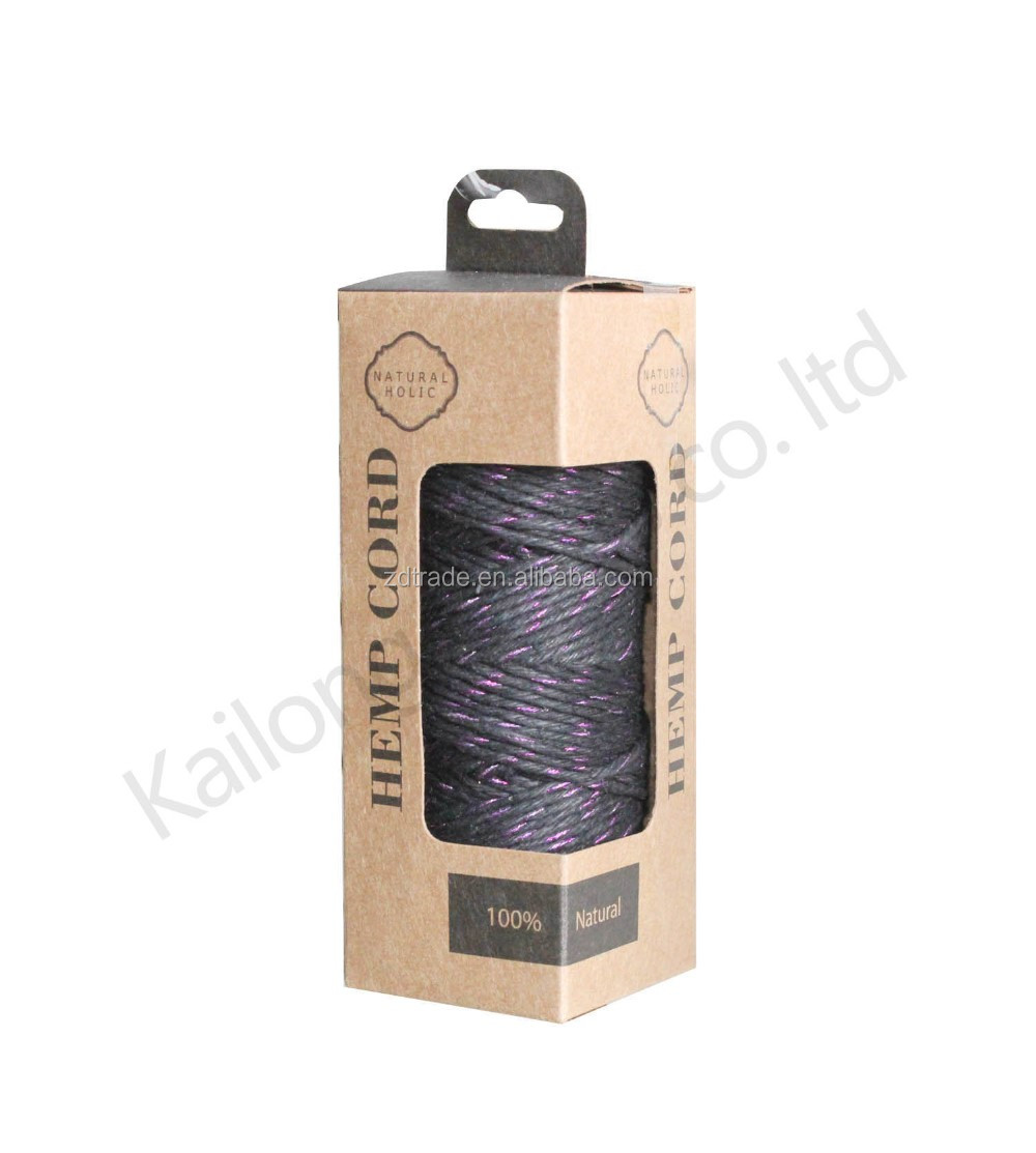 1.0MM BOXED Metallic Hemp cord, plastic spool, walmart cord