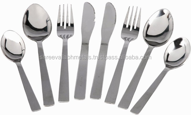 Stainless Steel Indian Flatware/ Restaurant Stainless Spoon Fork and Knife Wholesaler