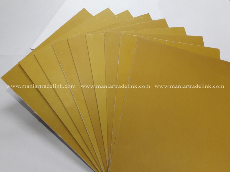 Two side golden coated paper board