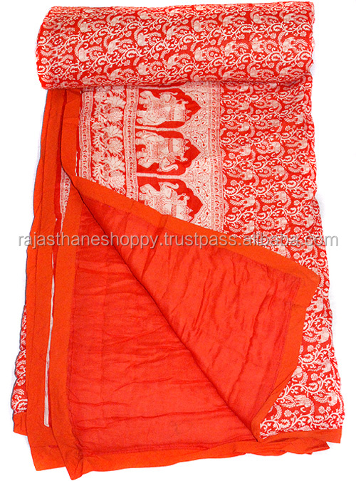 Indian Handmade Block Print Cotton Blankets Buy Online Jaipuri Razai