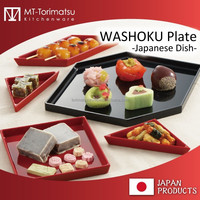 WAGASHI And Japanese Tea Restaurant Plates Classical Design Black Red