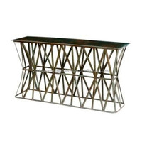 Industrial & vintage Iron metal & wooden console Table