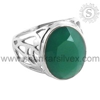 Hot Sale Elegant New Fashion Green Onyx 925 Sterling Silver Engagement Ring Rings for Women Jewelry RNCT2005-29