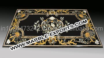 Lowest Price Marble Inlay Table Top best quality marble dinning table top
