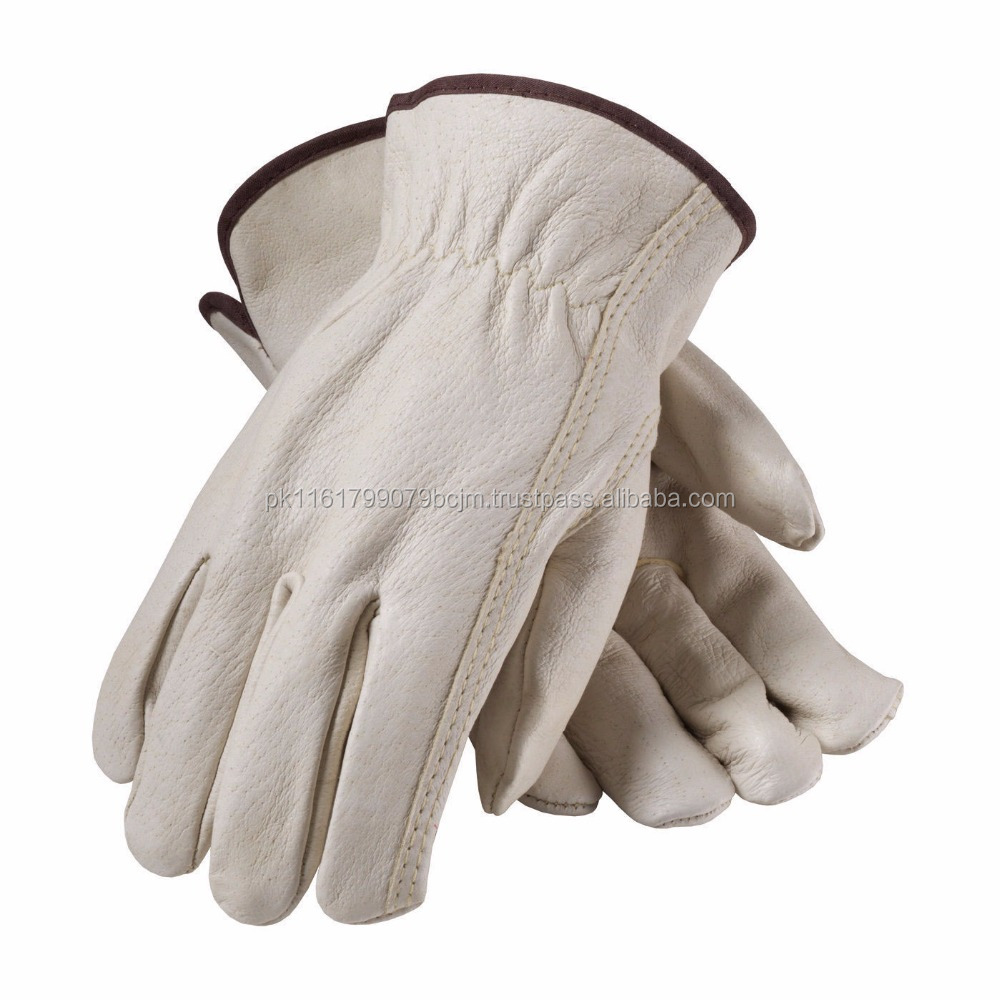 Cow Split Leather Working Gloves / Sports Wear Safety Working Gloves
