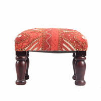 Antique Victorian Indian chair country Traditional upholstery with Beautiful Traditional Work