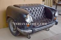 RESTORATION FURNITURE UNIQUE CAR SOFA WITH WHEELS FROM INDIAN FURNITURE EXPORTER NAKODA ASSOCIATES