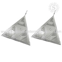 Kingly Fashion Of 925 Sterling Silver Earring Women Fashion Jewelry India Exotic Wholesale Jewelry Handmade Silver Jewelry