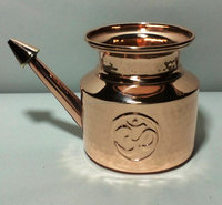 Yoga OM Neti Pot made of Pure Copper