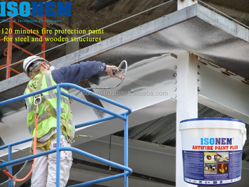 ISONEM ANTIFIRE PAINT PLUS - 120 MINUTES FIRE PROTECTION PAINT FOR STEEL, CONCRETE AND WOODEN STRUCTURES, FIRE RESISTANT PAINT
