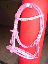 wholesale cow leather padded quality ss buckle horse padded bridle with reins