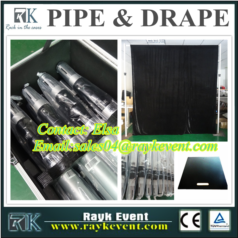 Hot sale price list of pipe portable events pipe and drape backdrop/pipe and drape kits from China factory