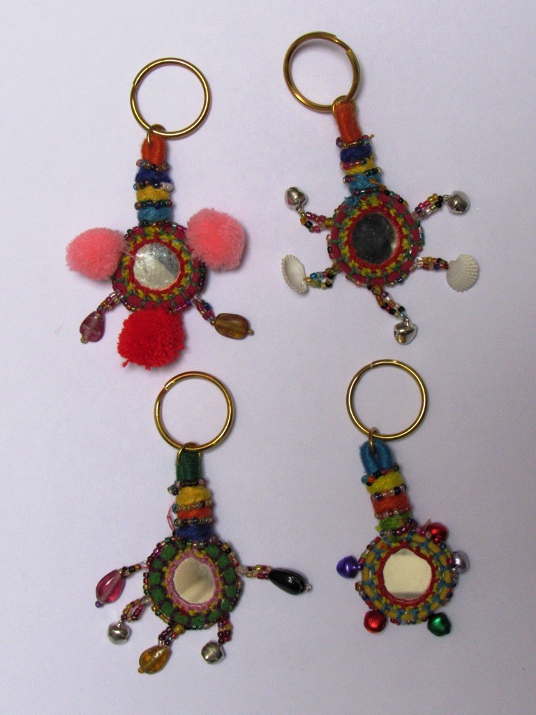 Banjara Key Chain Boho look Indian Key Rings bag charm