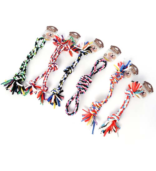 Asst 6pc T-shirt Pet Rope 9.5x14in 70g u
