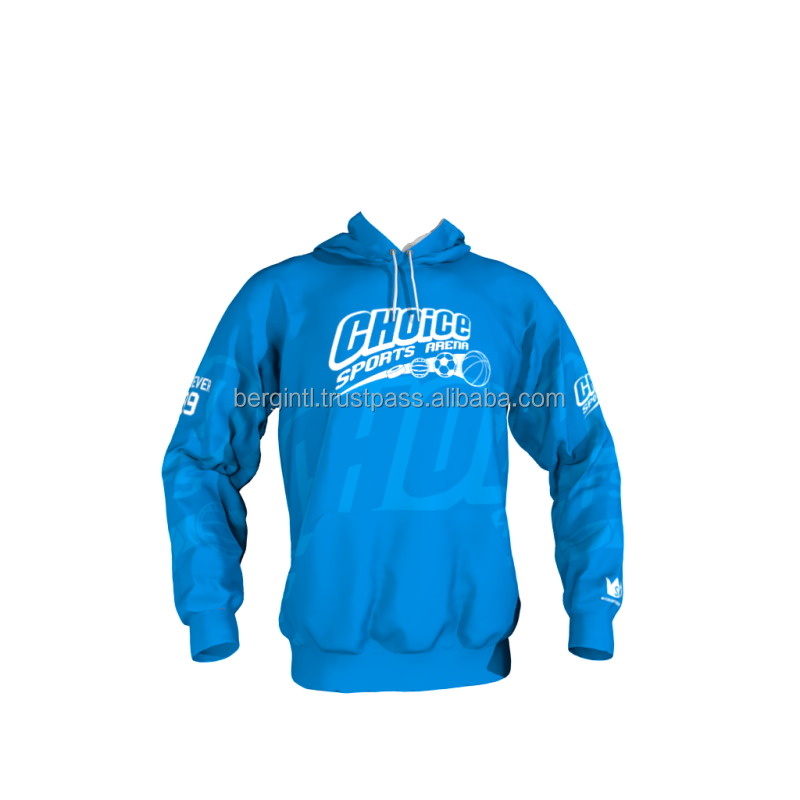 Blue Hoodies Men Full Printing Digital/flora print Hoodies Men
