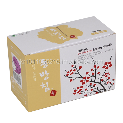 DONGBANG DISPOSABLE ACUPUNCTURE NEEDLES BLISTER PACKAGE 1,000PCS/BOX