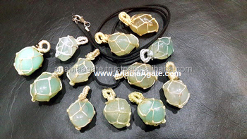 Green Onyx Netted Tumble Pendant With Cord : Wholesale Tumbel Pendant