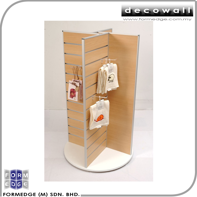 Affodable Quality Rotating Slatwall Display Rack