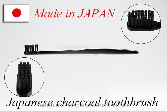 Japanese novelty charcoal toothbrush,High grade Japanese Binchotan Charcoal toothbrush 5 colors [Made in Japan]
