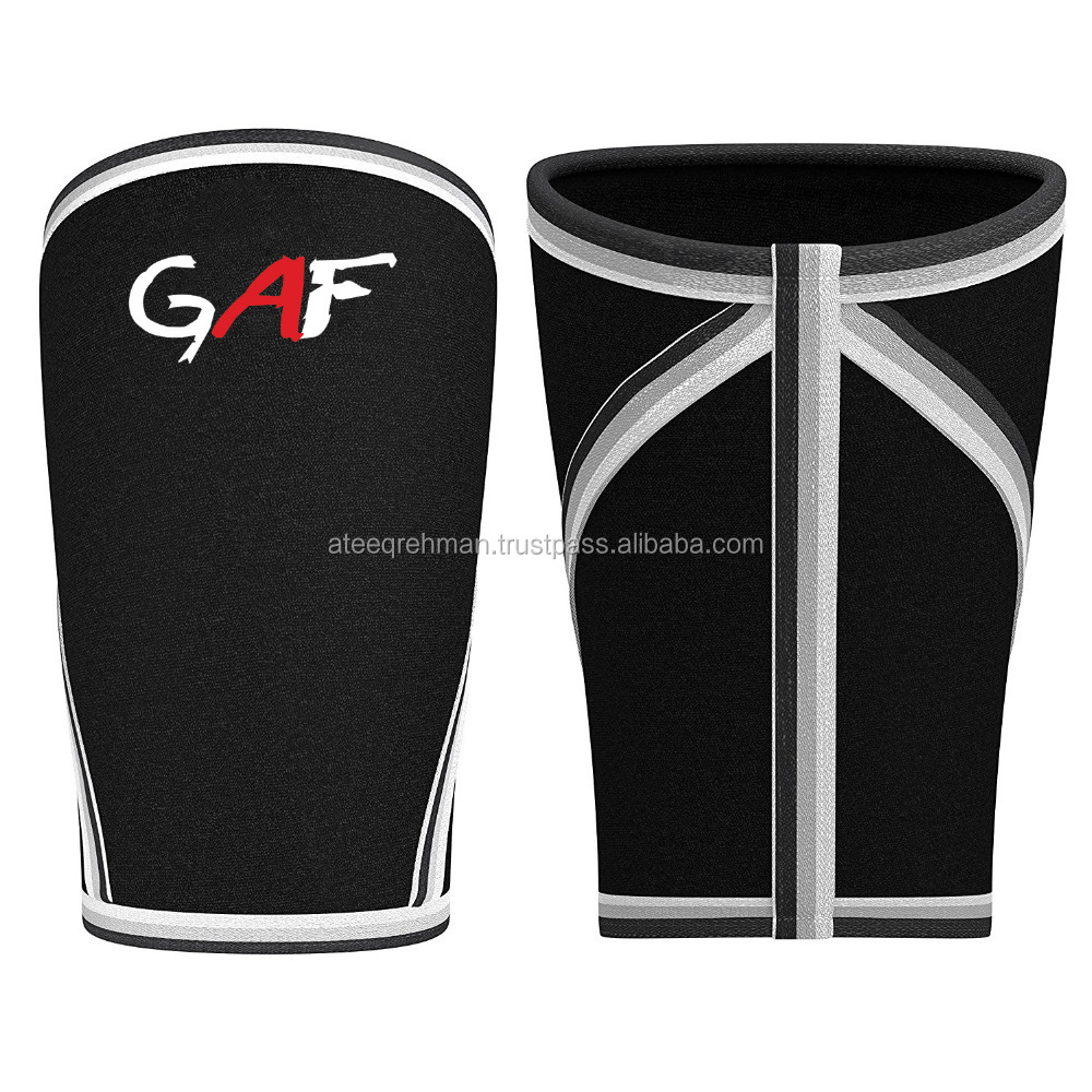 GAF Power Lifting Pair of 7mm Neoprene Knee Sleeves Crossfit Knee Wraps
