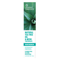 Natural Tea Tree Oil and Neem Toothpaste, 6.25 OZ by Desert Essence
