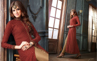 Excellent Embroidered Work Maroon Designer Suit/salwar suit design for girl/Wholesaler Salwar Suit In India