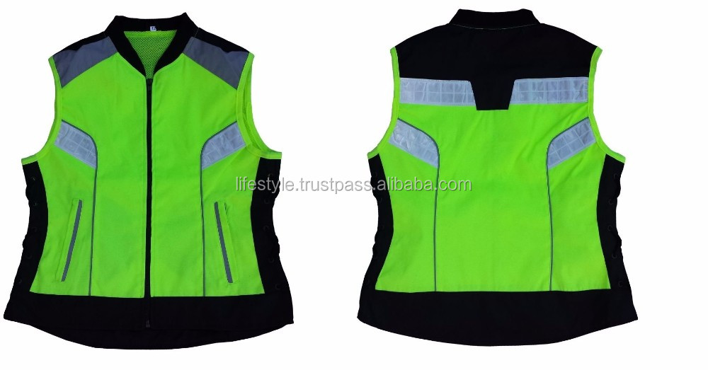 reflect outlaw biker vests biker leather vest hi vis blue reflective vest