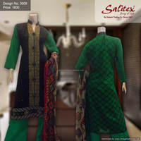 3009- Salitex Lawn 3 pieces suit fancy ladies suits ladies salwar suit design